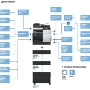 Konica Minolta Bizhub C3851 Options Diagram