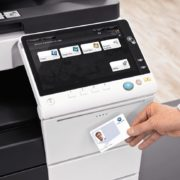 Konica Minolta-Bizhub C558 Office Security Card Authentication