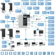 Konica Minolta Bizhub C558 Options Diagram