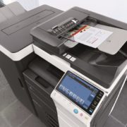 Konica Minolta Bizhub C754 Office Document Feeder Staple Finisher Price Offers
