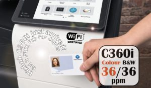 Konica Minolta Bizhub C360i Security Card Authentication Price Offers